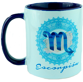 Taza signo zodiacal. Escorpión