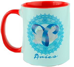 Taza signo zodiacal. Aries